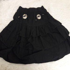 Sassa Vintage Western Layer Skirt Tassel Silver M